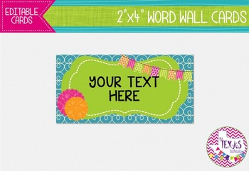 Word Wall Cards - Bubblegum Pink and Lime Green {EDITABLE}