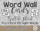 Word Wall Cards (Buffalo Plaid): Fry's First 100 Sight Words