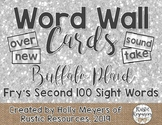 Word Wall Cards (Buffalo Plaid): Fry's Second 100 Sight Words