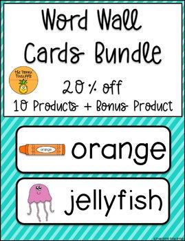 Word Wall Cards Bundle