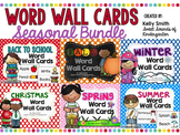 Word Wall Cards Bundle! {Seasonal}