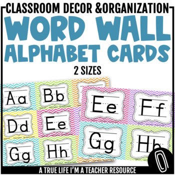 Word Wall Cards {Chevron Brights}