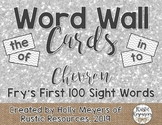 Word Wall Cards (Chevron): Fry's First 100 Sight Words