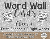 Word Wall Cards (Chevron): Fry's Second 100 Sight Words