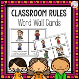 Word Wall Cards: Classroom Rules