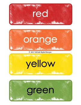 Word Wall Cards - Colors