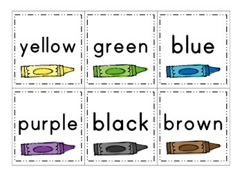 Word Wall Cards: Colors & Numbers 0-10