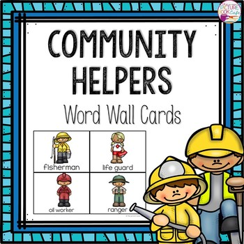 Word Wall Cards: Community Helpers