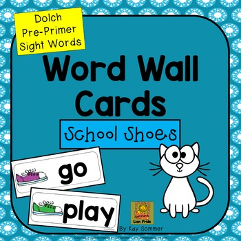 Word Wall Cards {Dolch Pre-Primer}
