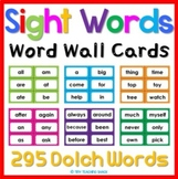 Dolch Sight Word Cards (white cards included)