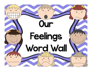 Word Wall Cards Feelings Words
