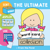 Word Wall - Word Cards / Flashcards - Ultimate Word Card C