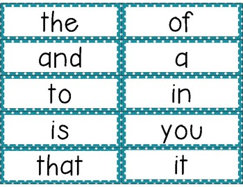 Word Wall Cards Fry 100