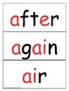 Word Wall Cards Fry 2nd 100 Red Letter