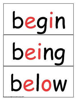 Word Wall Cards Fry 3rd 100 Red Letter