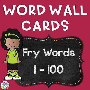 Fry First Hundred Word Wall Cards