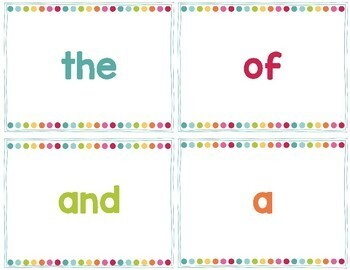 Fry First Three Hundred Word Wall Cards