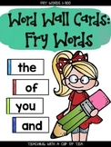 Word Wall Cards: Fry Words (1-300)