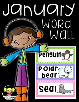 Word Wall Cards {January}