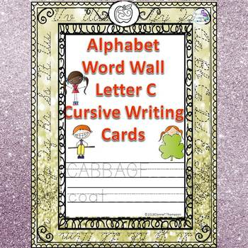 Alphabet Word Wall: Letter C (Cursive Writing Cards)