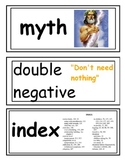Word Wall Cards Literacy for 3rd-5th grade (Common Core)