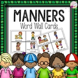Word Wall Cards: Manners