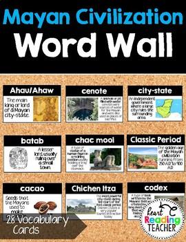 Word Wall Cards: Mayan Civilization