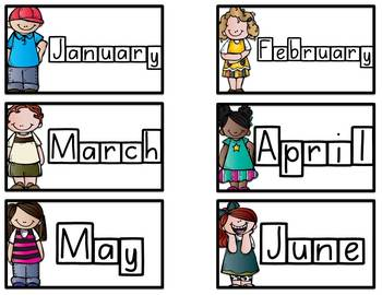 Word Wall Cards: Numbers, Colors, and Months