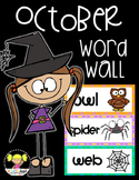 Word Wall Cards {October}