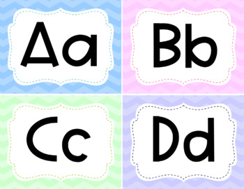 Word Wall Cards- Pastel
