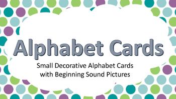 Word Wall Cards Peacock Polka Dot Theme
