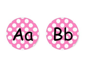 Word Wall Cards- Pink Polka Dot