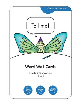 Word Wall Cards: Plants and Animals (20 cards)