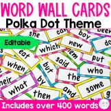 Word Wall Cards Polka Dots Edition EDITABLE