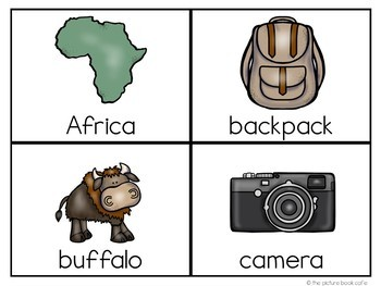 Word Wall Cards: Safari