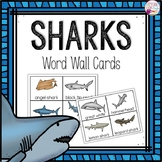 Word Wall Cards: Sharks