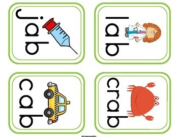 Word Wall Cards - Short Vowel Word Family Word Wall Cards