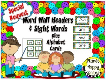 Word Wall Cards, Sight Words, & Alphabet Cards ~ Multi Col