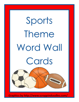 Word Wall Cards - Sports Theme