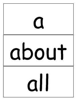 Word Wall Cards - The 1st 100