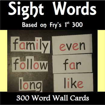 Word Wall Cards - The 1st 300 - A Bundle