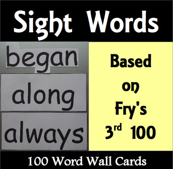 Word Wall Cards - The 3rd 100