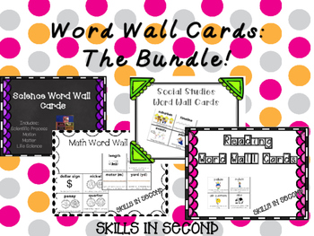 Word Wall Cards: The Bundle!