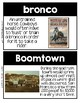 Word Wall Cards: Westward Expansion
