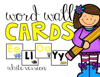 Word Wall Cards | White Version