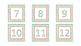 Word Wall Cards and Calendar Numbers- Winter Red and Green