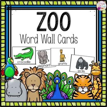 Word Wall Cards: Zoo