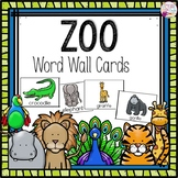 Word Wall Cards: Zoo