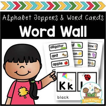 Word Wall Cards and ABC Toppers for Pre-K and Kindergarten ~ Black