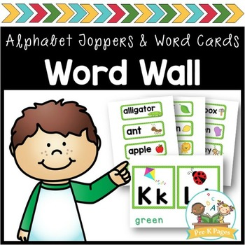 Word Wall Cards and ABC Toppers for Pre-K and Kindergarten ~ Green